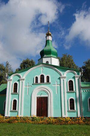 chernigow: Old small Russian orthodox church in countryside. Chernigov region, Ukraine Stock Photo