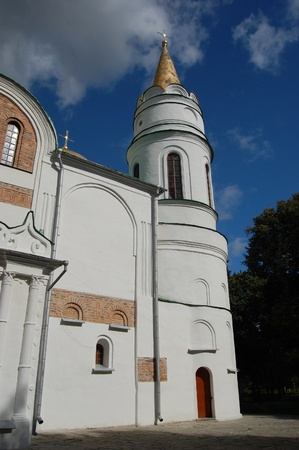 chernigow: Russian orthodox cathedral in historical Russian town of Chernigov, Ukraine  Stock Photo