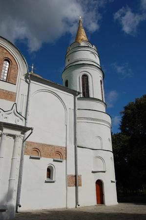 chernigow: Russian orthodox cathedral in historical Russian town of Chernigov, Ukraine  Stock Photo