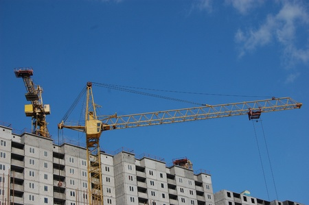 Building under construction . Ukraine Stock Photo - 10580213