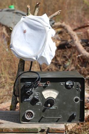 KIEV, UKRAINE -SEPT 18 : German military radio during historical reenactment of 1941 WWII, September 18, 2011 in Kiev, Ukraine
