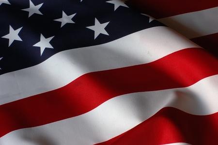 american flags: EE.UU. Bandera Foto de archivo