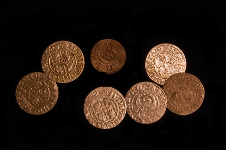 Medieval Polish coins. Found with metal detector in Ukraine Stock Photo - 11638064