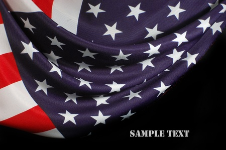 estrellas  de militares: EE.UU. Bandera Foto de archivo