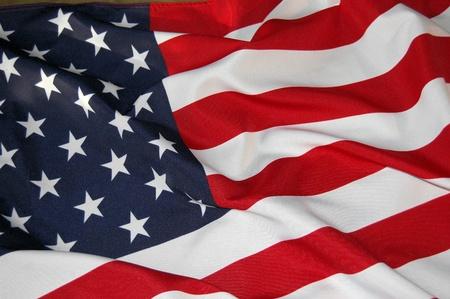 banderas americanas: EE.UU. Bandera Foto de archivo