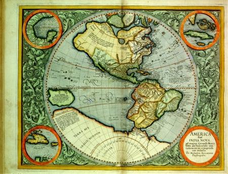 atlas: Antique Map Stock Photo