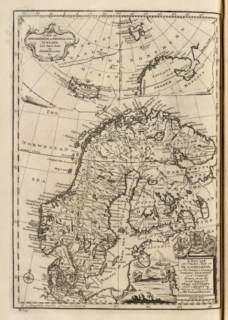 Mapa antiguo 1747 photo