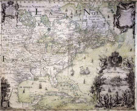 アンティークの地図