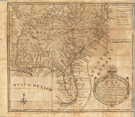 Amerika, 1789 alte Karte