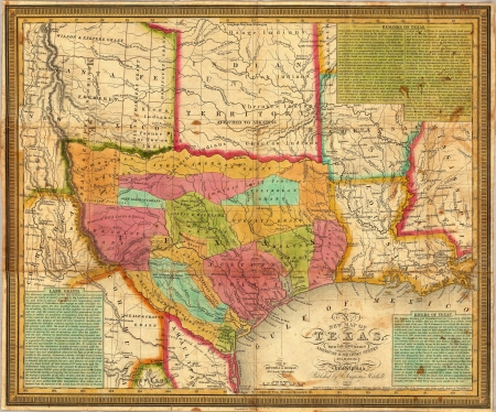 1836 Map of Texas  photo