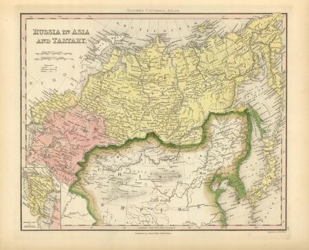 1845 Russia old map photo