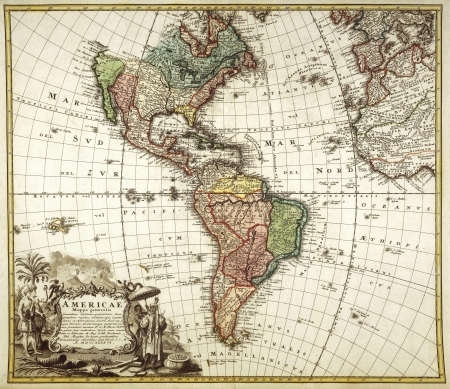 cartina africa: vecchia mappa