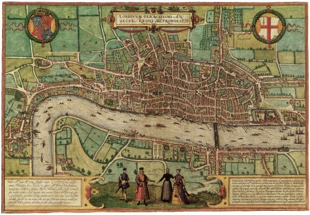 London old map Stock Photo