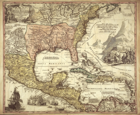 caribbean: old map Stock Photo