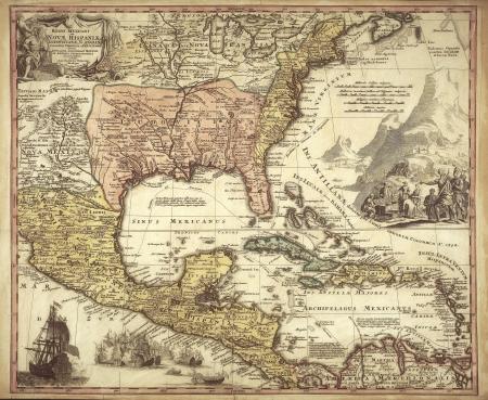 bandera cuba: viejo mapa