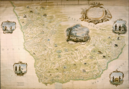 South Africa medieval map