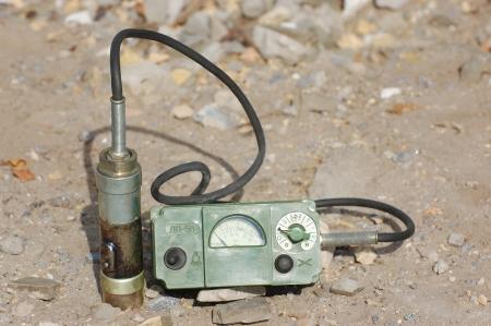 Old Soviet military radiometer ДП-5в (DP-5v) Logo removed Editorial