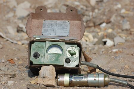 uranium radioactivity: Old Soviet military radiometer ДП-5в (DP-5v) Logo removed Editorial