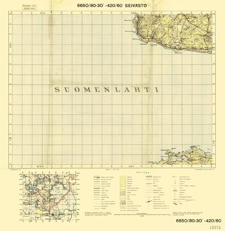Finland WWII map Stock Photo - 15484783