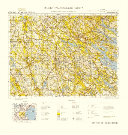 Finland WWII map Stock Photo - 15484821