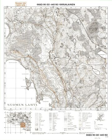 Finland WWII map Stock Photo - 15484912
