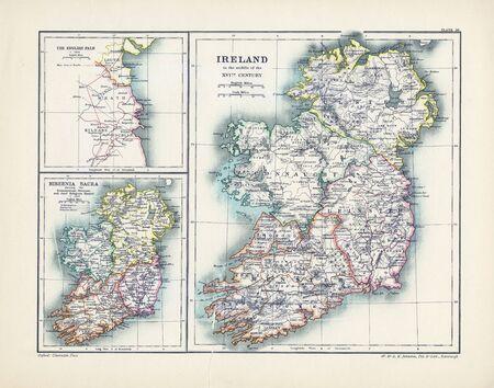 german swiss: old map Stock Photo