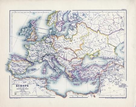 german swiss: old map Editorial