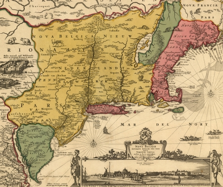 connecticut: old map Editorial