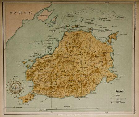 mapa china: Vintage mapa de Filipinas Editorial