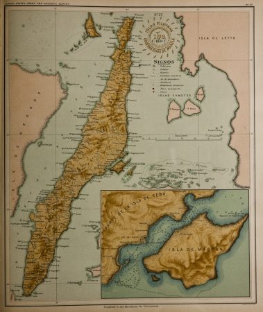Vintage map  of Philippines