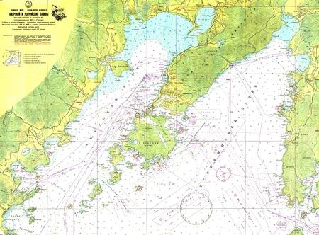 Russo di navigazione mappa Editoriali