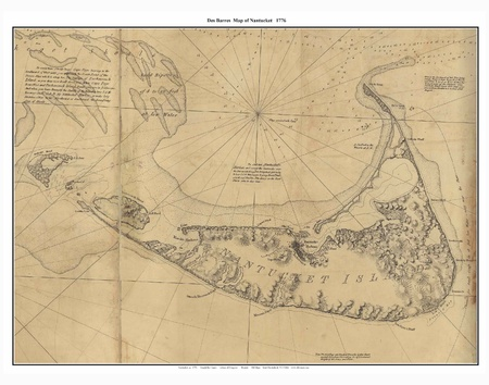 pacific islands: Nantucket old map Editorial