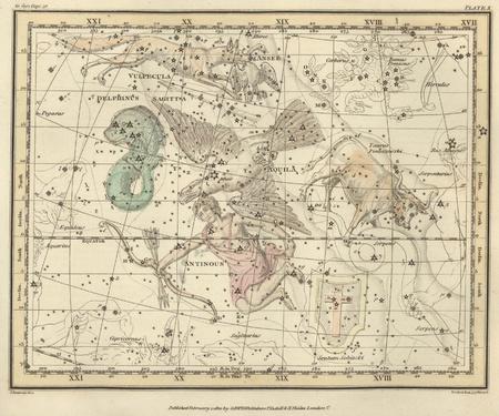 Vintage celestial map Stock Photo - 18046179