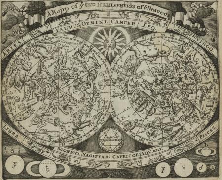 constelaciones: Mapa estelar Vintage