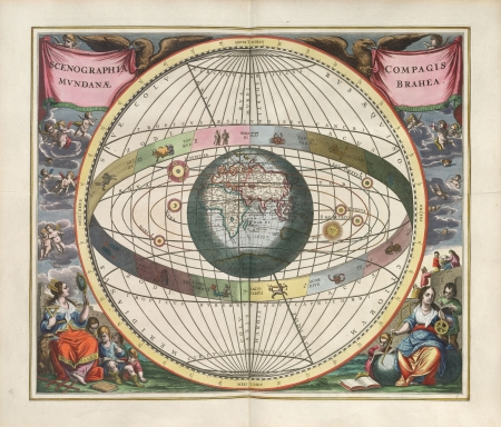 Astronomical chart, Vintage Stock Photo - 18046194