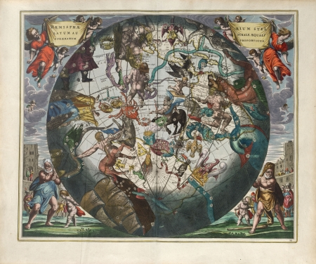 Astronomical chart, Vintage Stock Photo - 18046202