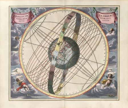 Astronomical chart, Vintage Stock Photo - 18046187