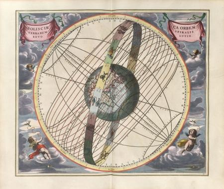 Astronomical chart, Vintage Stock Photo - 18046187