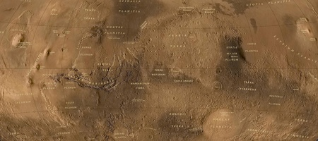 Mars.Part of map