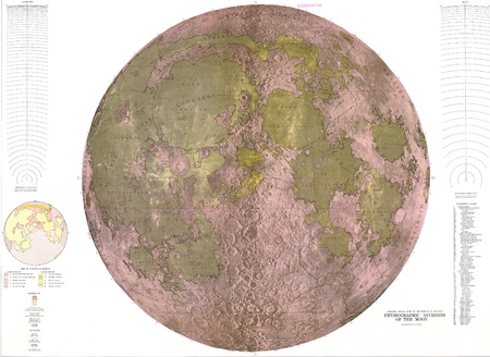 Map of the Moon, vintage