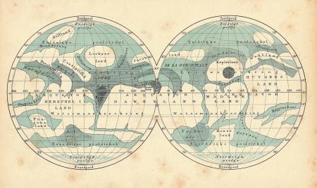 Mars.Vintage map