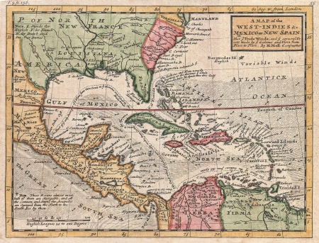 West Indies old map Editorial