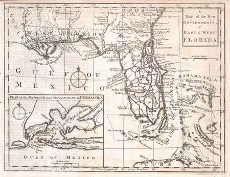 Florida vecchia mappa Editoriali