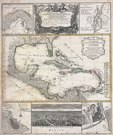 Caribbean old map
