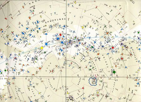 Astronomical chart Stock Photo - 18114955