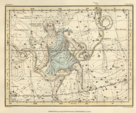 Astronomical chart, Vintage Stock Photo - 18114941