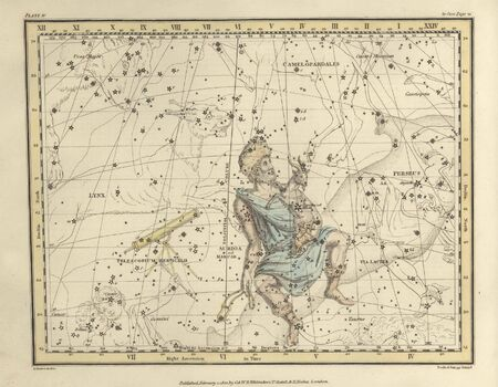 Astronomical chart, Vintage Stock Photo - 18144616