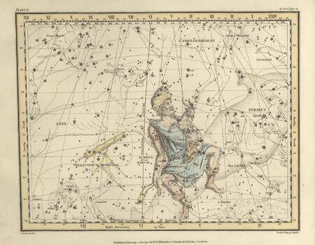 Astronomical chart, Vintage Stock Photo - 18144616