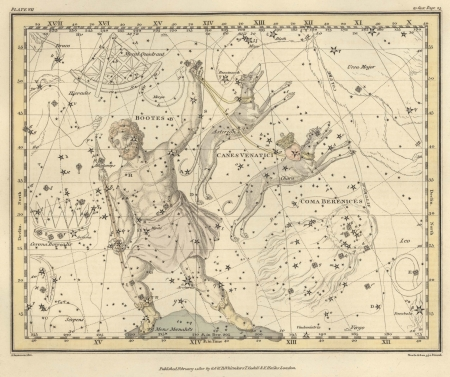 Astronomical chart, Vintage Stock Photo - 18144617