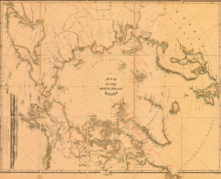Arctic old map 1879